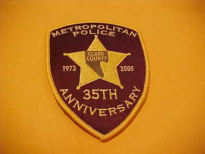 Las Vegas Nevada Metro 35 Th Anniversary Police Patch Shoulder Size Unused