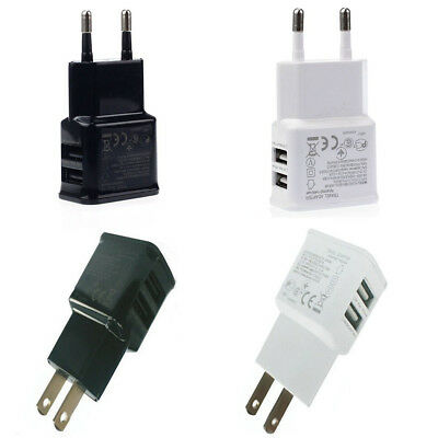 Wall Charger Adapter 5V 2A Dual USB 2-Port For Samsung S3 S4 S6  iPhone 5S 4S