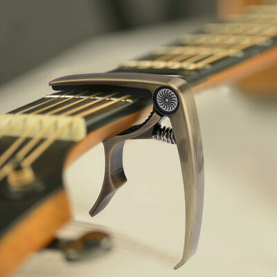 Premium Guitar Capo with Staple Quick Change Trigger Clamp for Acoustic Electric