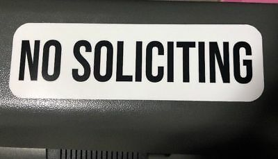 No Soliciting Vinyl Decal   Sticker   Window Label Solicitors Sign Trespassing