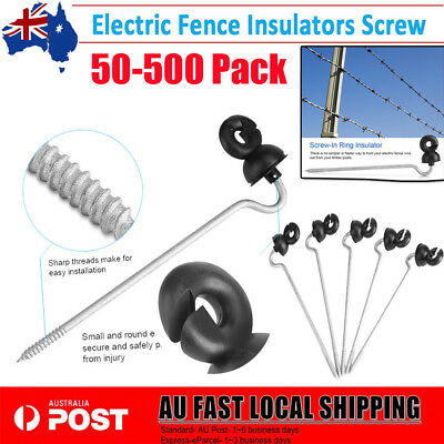 50-500 Electric Fence Timber Wood Post Insulators Screw In Offset Poly Wire Tape