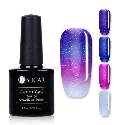 7.5ml Glitter Color-changing UV Gel Polish Nail Art Soak Off Varnish UR SUGAR
