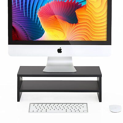 FITUEYES Computer Monitor Riser Shelf 16.7 inch 2 Tiers Monitor Stand,Save Space