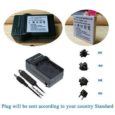 Battery Pack + Charger Kits for FUJI NP-40 NP-40N NP40N Finepix F460 F650 Camera