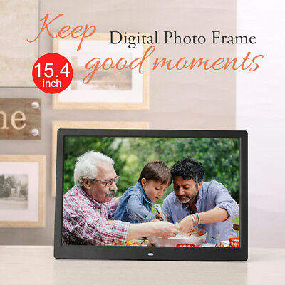 15.4 HD 720P LED Digital Photo Picture Frame Movie Player Video Remote Control