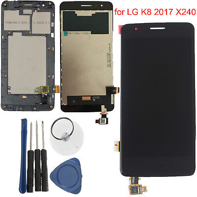 LCD Display Touch Screen Digitizer with Frame Replacement for LG K8 2017 X240