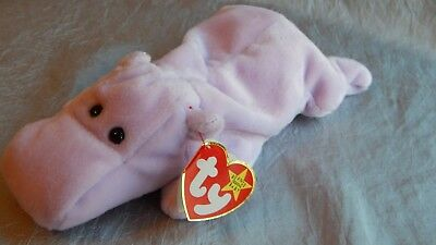 Ty Beanie Baby Happy the Hippo Tag Errors #007
