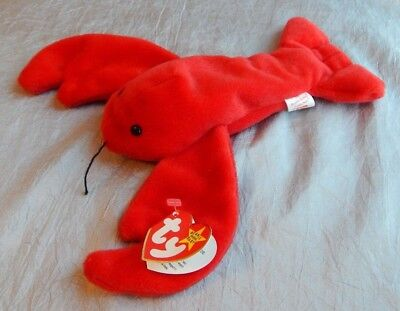 Ty Beanie Baby PVC Pellets Pinchers the Lobster 1993 #008