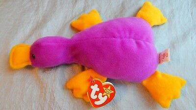 Ty Beanie Baby PVC Pellets Patti the Platypus 1993 #010
