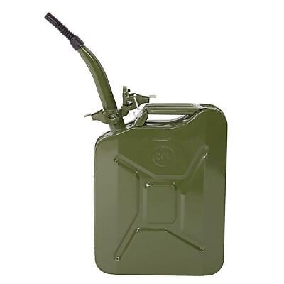 20 Liter Jerry Can Fuel Diesel Petrol Oil Outdoor Spare Tank With Flexy Spout