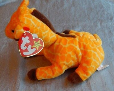 Ty Beanie Baby PVC Pellets Twigs the Giraffe 1995 #013