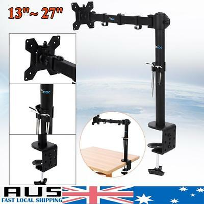 "Single Monitor Arm 360° Fully Adjustable Desk Mount Stand For 13-27"" Screen"