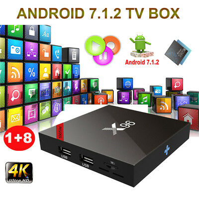 X96 Android 7.1.2 Nougat Amlogic S905W Quad Core Smart TV BOX 4K HDMI WIFI 1+8G