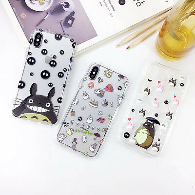 Japan Totoro Cartoon TPU Silicone Phone Case Cover For iPhone X 8 7 6/6S Plus