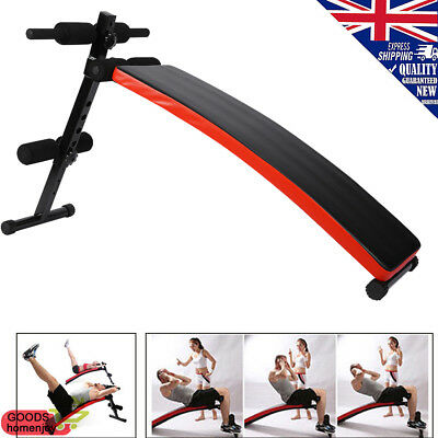 Sit Up Bench AB Abdominal Crunch Exercise Board Gym Dumbbell Train Ropes Holder