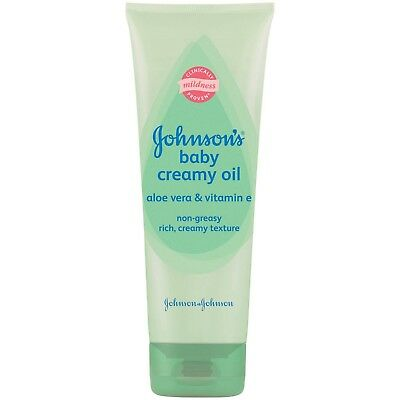 Johnson's Baby Creamy Oil Aloe Vera & Vitamin E 8 fl oz One tube