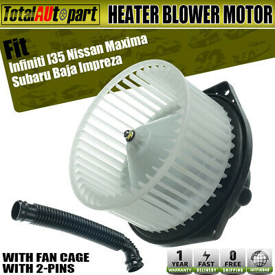 Car Heater Blower Motor w// Fan for Infiniti I35 Subaru Baja Impreza ABS plastic
