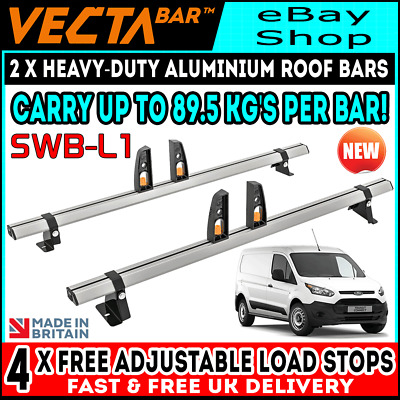 Ford Transit Connect Roof Rack Bars x2 (SWB-L1) Used For Ladders 2014-2018 Vans