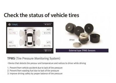 Car Tyre Pressure Monitoring System TPMS Sensors for Blacksys BL100-N Dash Cam