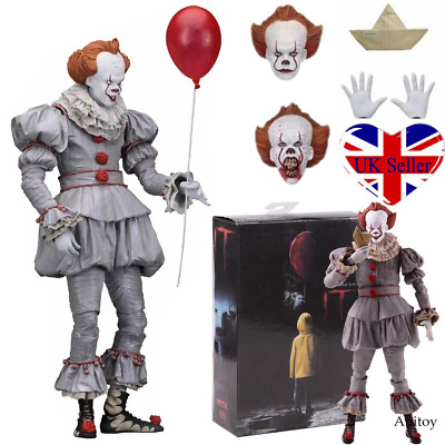 """NECA Ultimate Stephen King's It Pennywise Clown Joker 7"""" Action Figure Toys Gift"""