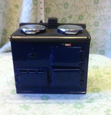 Dolls House 1:12th Scale Hearth & Home Freestanding Aga ... In Blue