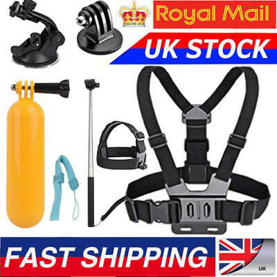 6 in 1 Chest Floating Monopod Suction Mount Accessories Kit for Gopro Camera