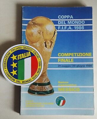 1986 World Cup Mexico. Official Italy 188 Page Fifa Publiction  - Very Rare.