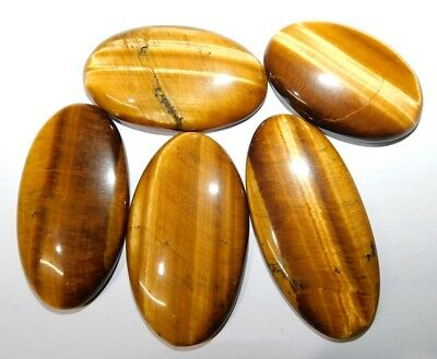 Tiger's Eye 214Ct. Natural A++ Cabochon Loose Gemstone Lot 11354