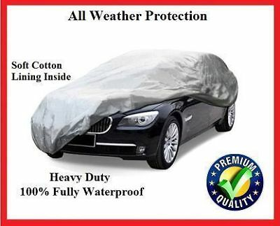Jaguar Xf 2008 On - Heavy Duty Fully Waterproof Car Cover Cotton Lined