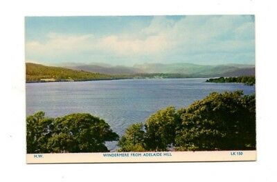 Cumbria - The Lake District, Windermere from Adelaide Hill - Vintage Postcard