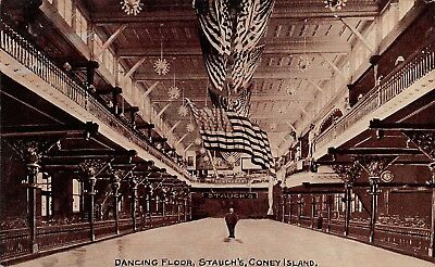 Coney Island, NY PC c. 1910, Dance Floor at Stauch's, Pub. Kraus Mfg. Co. #K1012