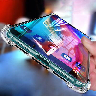 [Clear Crystal] Shockproof Silicone Case Cover for Huawei Mate 20 Pro/Lite 8X Y6
