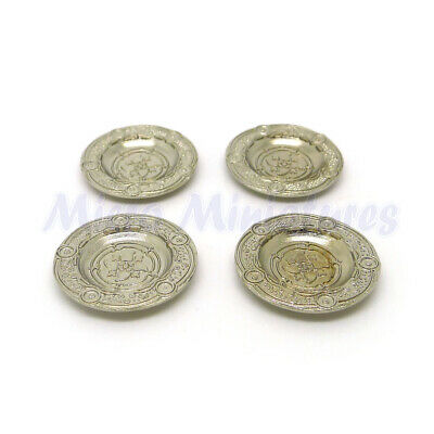 Dolls House Silver Platters 1/12th Scale (00313)