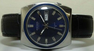 VINTAGE SEIKO AUTOMATIC DAY DATE MENS 359571 WRIST WATCH g346 OLD USED ANTIQUE