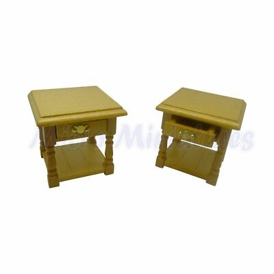 Dolls House Pine Bedside Cabinets 1/12th Scale (00375)