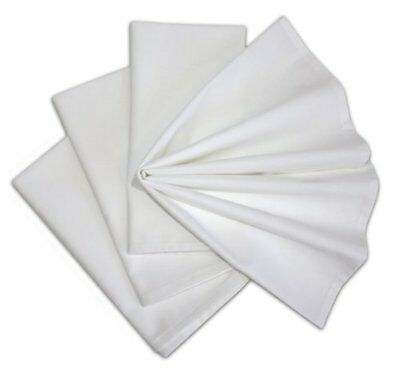60 NEW Cotton Dinner Napkins WHITE 12 Pack 20 x 20 inch Durable Linen Table
