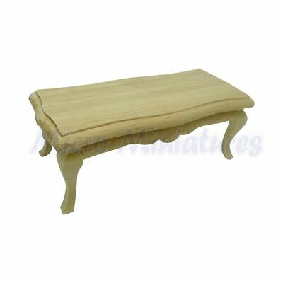 Dolls House Carved Coffee Table 1/12th Scale (00398)
