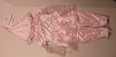 Second Step Girls Size 24 Months Pink Princess Outfit Costume With Hat**EUC**