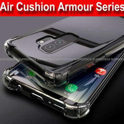 Case For Samsung Galaxy S9 S8 A6 J4 J6 A8 Luxury Shockproof Silicone Clear Cover