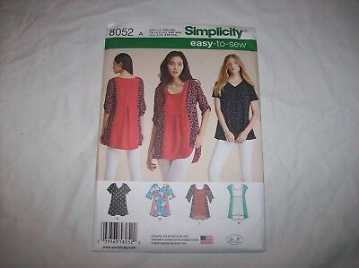 6086a282e5267 SIMPLICITY 8052 MISSES Top Sewing Pattern Size XXS-XXL -  5.49 ...