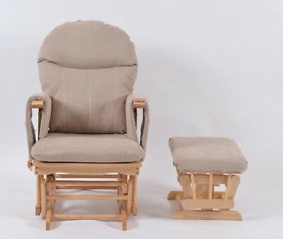 Habebe Recliner Rocking Glider Chair & Stool WASHABLE COVERS
