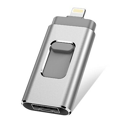 USB flash Drive for iPhone IOS ANDROID 128GB thumb drive Memory Storage 3 in 1