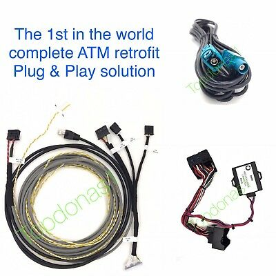 Bmw F Series Nbt Evo Id5/6 Atm Retrofit Wiring Loom + Can Filter Plug & Play