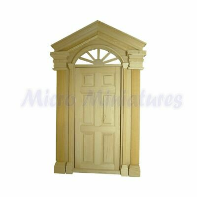 Dolls House Elaborate Front Door 1/12th Scale (02177)