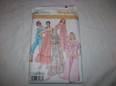 815f2e9503 Simplicity 4048 Misses Nightgown Pajamas Robe Sewing Pattern Size M-XL