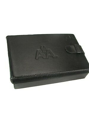 Vintage 7 x 4½-Inch AMERICAN AIRLINES LEATHER BOX For Keepsakes / Photos