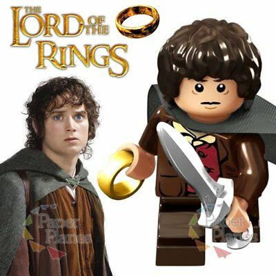 Frodo Maßgeschneidert Minifigur Passt Lego Toy Lord of the Rings P541