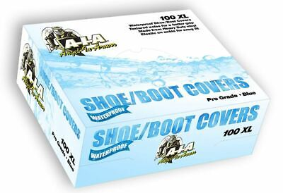 Box of 100 XL Waterproof Boot Shoe Covers (50 Pairs) - Blue Booties