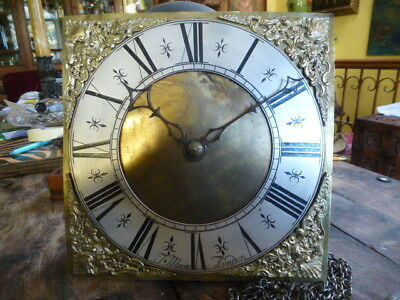 "30 hour 10"" antique longcase grandfather clock movement"