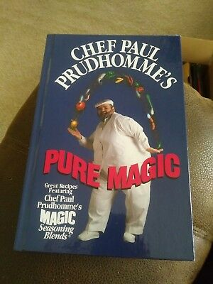 Chef Paul Prudhomme's Pure Magic Signed First Edition Cook Book Hardback